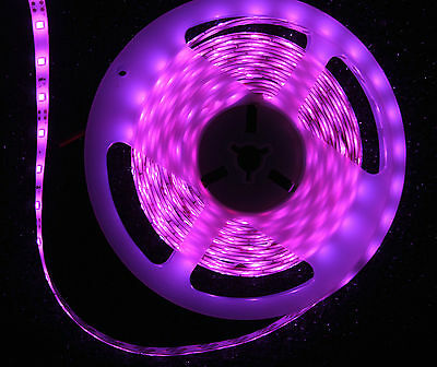Aquarium Hood Yellow And Pink Led Strip Lights 9V Pp3 Battery Operated 2