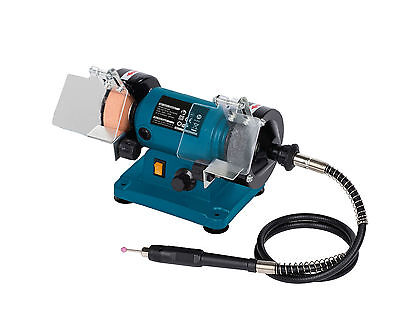 Bench Grinder Var.Speed,W/2 Grinding & 2 Polishing Disc & Flexible Shaft &39 Acc