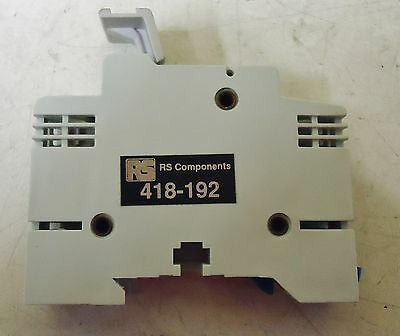 (Rs) Rs Componets Model# 418-192 Fuse Block 32 Amps 600V Rail Mount 2
