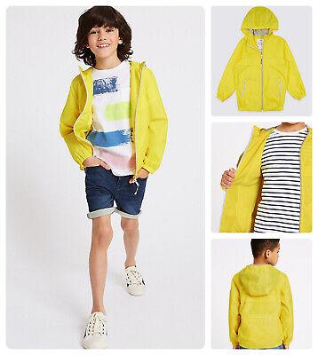 Packaway Jacket Mac Rain Coat Kids Boy Girl  NEW Ex M&S Age 3-16 Yrs Lightweight 3