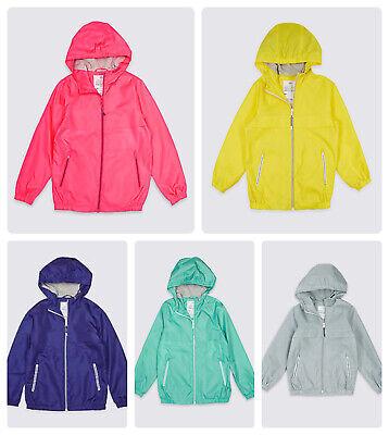 Packaway Jacket Mac Rain Coat Kids Boy Girl  NEW Ex M&S Age 3-16 Yrs Lightweight 2