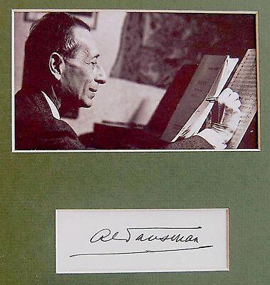ALEXANDRE TANSMAN Composer JEWISH PIANIST Hand SIGNED AUTOGRAPH + PHOTO + MAT 5