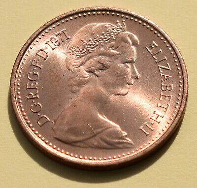 1971 Half New Penny Piece 1/2p Coin Brilliant Uncirculated First Year Of Decimal 2