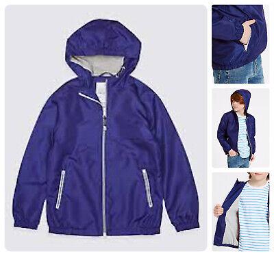 Packaway Jacket Mac Rain Coat Kids Boy Girl  NEW Ex M&S Age 3-16 Yrs Lightweight 6