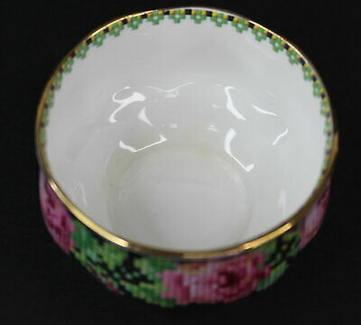 Royal Albert Needle Point Mini Open Sugar Bowl Crafted in England Vintage 2