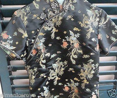Camicia Blusa Stile Orientale Rayon Poliestere Altezza 63 Interascel 44 Vita 40 2