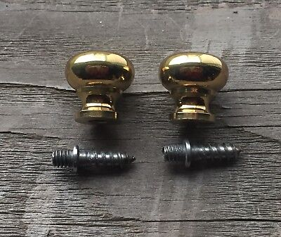 """5/8"""" Brass Round Knobs Pulls Handles Stacking Barrister Cabinet BookCase Drawer 6"""