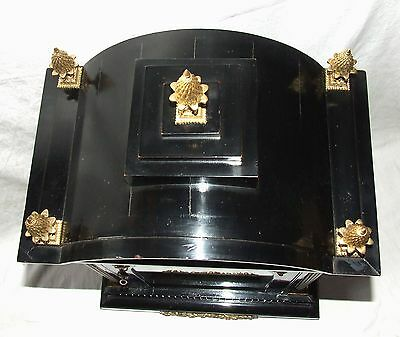 Massive Triple FUSEE Musical Mantel Bracket Clock on 8 Bells & Westminster Chime 9