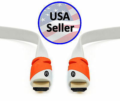 Ultra Clarity Flat HDMI Cable 2.0b High Speed Cord - 4K HD TV PREMIUM HDR Lot