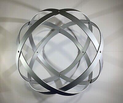 Genesa Crystal diametro 31 cm alluminio satinato argento profilo 2 cm. 2