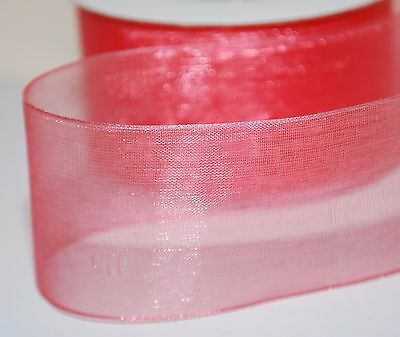 Many New Colours !!! Woven Edge Organza Sheer Chiffon Wedding Ribbon CUT Lenght