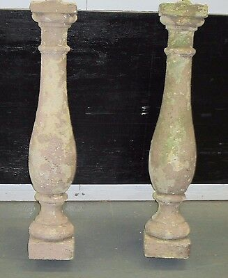 """BALLUSTERS 2 Architectural Concrete Balusters New York City Salvage 30"""" H 3"""