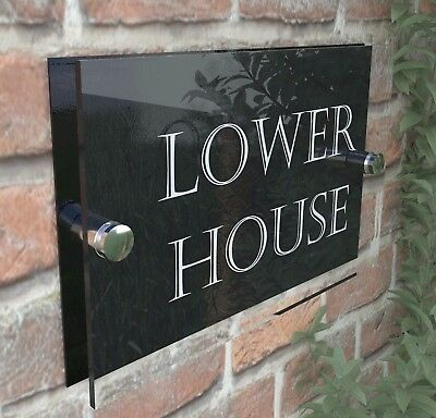 house number plaque plaques sign signs rustic contemporary 5