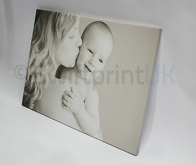 "CANVAS PRINT 20x30"" A1 large Personalised Your PHOTO/PICTURE on 18mm Frame 280gs 12"