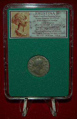 Ancient Roman Empire Coin Of FAUSTINA II Fecunditas On Reverse Silver Denarius 2