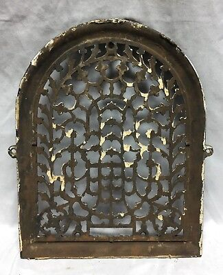 One Antique Arched Top Heat Grate Grill Stars Flowers Pattern Arch 11X14 635-18C 6