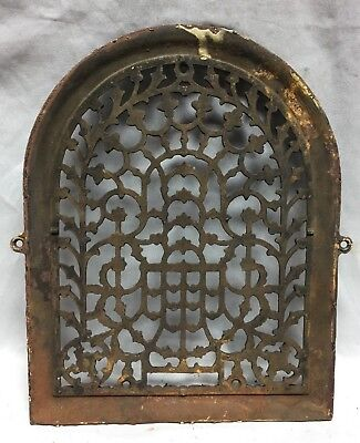One Antique Arched Top Heat Grate Grill Stars Flowers Pattern Arch 11X14 635-18C 4