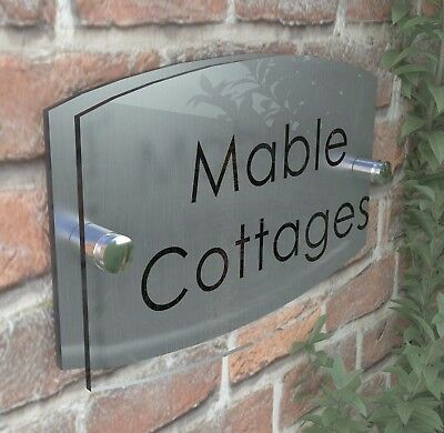 Contemporary House Sign Plaque Door Number 1 - 999 Personalised Name Plate EM27B 6