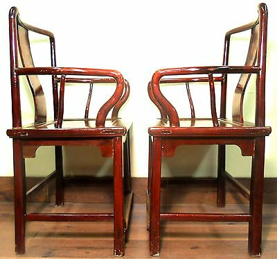 Antique Chinese Ming Arm Chairs (5507), Circa 1800-1849 11