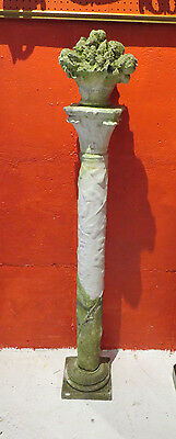 Two Antique Marble and Limestone Garden Columns- From The Godfather III Estate 3