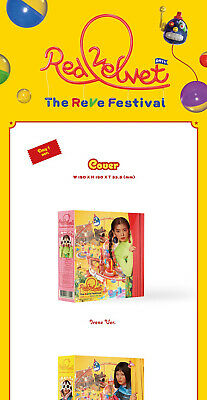 RED VELVET THE REVE FESTIVAL Album DAY 1 Ver CD+POSTER+Magic Kit+Book+Card+GIFT 5