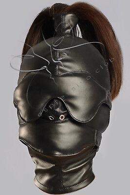 DEPRIVATIONSMASKE Vegan Lederhaube BDSM Ledermaske Gimp mask, bondage mask bdsm 2