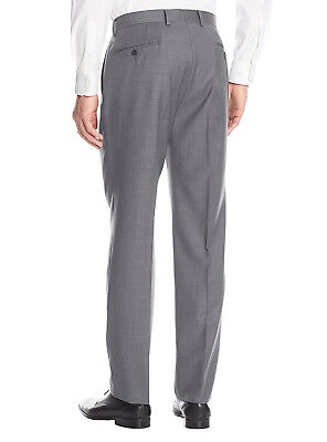 Luciano Natazzi Mens Two Button 2 Piece Birdseye Suit Modern Fit Jacket Pant 3