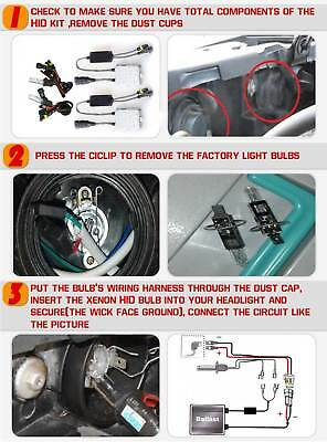 Hid Conversion Kit  9006 H1 H3 H4 H7 H11 9005 Xenon Headlight Bulbs 55W Ballast 11