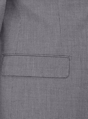 Luciano Natazzi Mens Two Button 2 Piece Birdseye Suit Modern Fit Jacket Pant 4