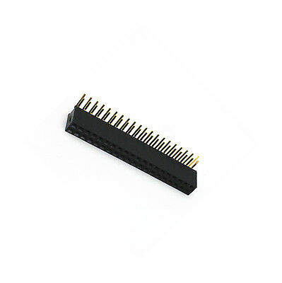 10 PCS 2.54mm Double Row 2X20 40Pin Female Right Angle Header Socket Pin Strip 2