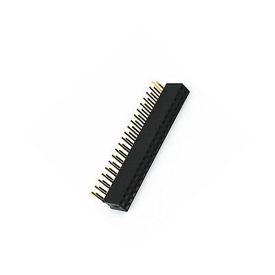 10 PCS 2.54mm Double Row 2X20 40Pin Female Right Angle Header Socket Pin Strip 3