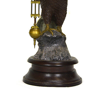 Large Brass American Eagle German Style 8 Day Swinger Movement Swinging Clock 6