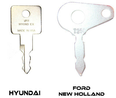 Yutani Heavy Equipment Ignition Keys #8 Case New Holland Kawasaki
