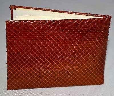 Vintage Genuine Snake Skin Red Brown Alphabetical Telephone Book Argentina NWOT 2