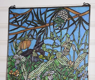 "24"" x 36"" Lily Pond Lotus Tiffany Style stained glass window panel 10"