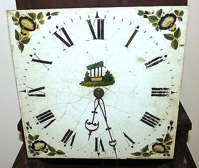 Early Petite Antique Oak Longcase Grandfather Clock 6