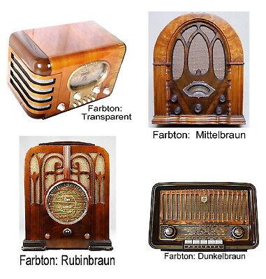 Lack Radio Gehäuse Schellack Politur Lackierung 47,80€/L Antik Röhrenradio Holz