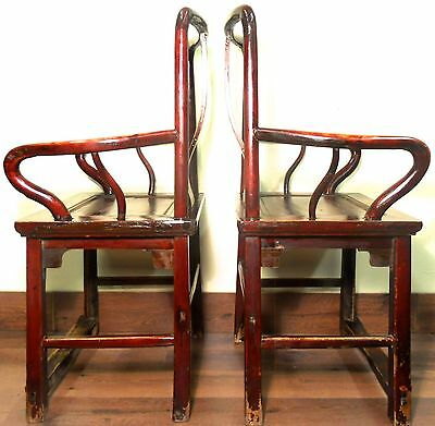 Antique Chinese Ming Arm Chairs (5882) (Pair), Circa 1800-1849 10