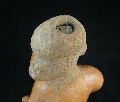 Pre-Columbian Nayarit-Chinesco Pottery Figure,red slip glaze.c.200 BC- 200 ACE 6