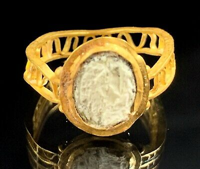 Ancient Roman Gold Ring; Open Work Swirls; 100 Bc - 200 Ad; Elegant & Wearable! 2