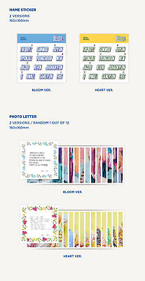 THE BOYZ BLOOM BLOOM 2nd Single Album RANDOM CD+Book+Pop-up+Sticker+Letter+Card 7