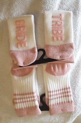 No Boundaries Novelty Bride/bridal Party Crew Socks-Size 4-10 (1-Pr)