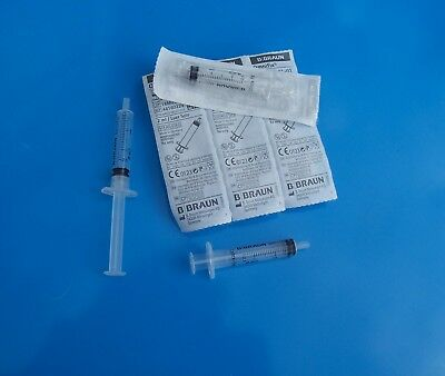 SYRINGES - 5 x 2ml BRAUN branded new, STERILE, disposable syringes 2