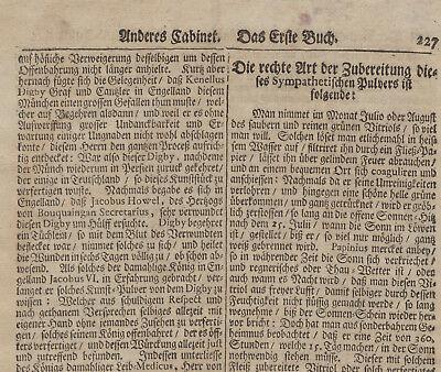 WAFFENSALBE Arzt + Apotheker MEDIZIN Orig Doppelblatt 1690 Heilkunde Rezept 8