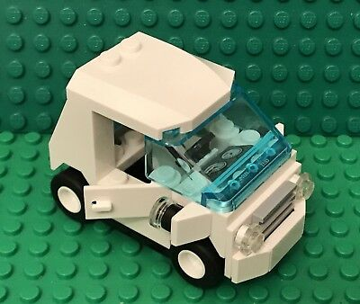 Lego MOC City Mini Figures Smart Car Utility Vehicle With Odometer,license Plate