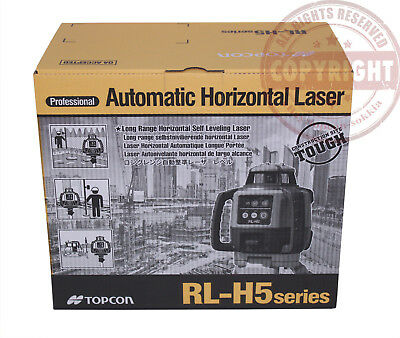 Topcon RL-H5A Self-Leveling Rotary Grade Laser Level, Slope Matching, Transit