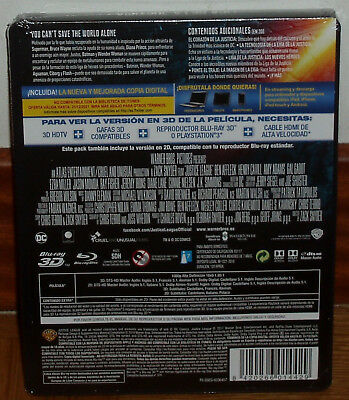 Liga De La Justicia Steelbook Blu-Ray 3D+Blu-Ray Nuevo Precintado (Sin Abrir) R2 2