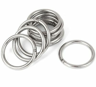 STAINLESS STEEL D-Rings & O-Rings ~ WELDED Buckles for Webbing Leather Craft DIY 4