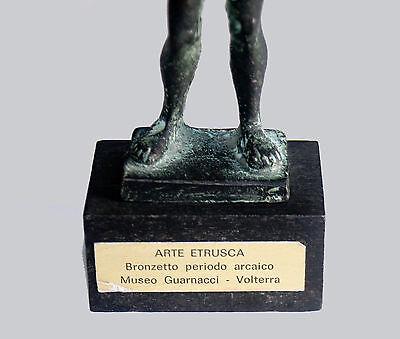ETRUSCAN WARRIOR BRONZE STATUE SCULPTURE - Identical Museum Reproduction 4