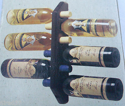 New ARGYLE (AUSTRALIAN MADE) WOODEN WINE BOTTLE RACK BOXED Bar Man Cave - In Aus